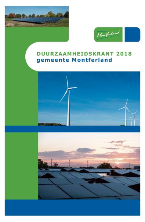 Duurzaamheidskrant van gemeente Montferland